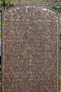Minton and McLean gravestone